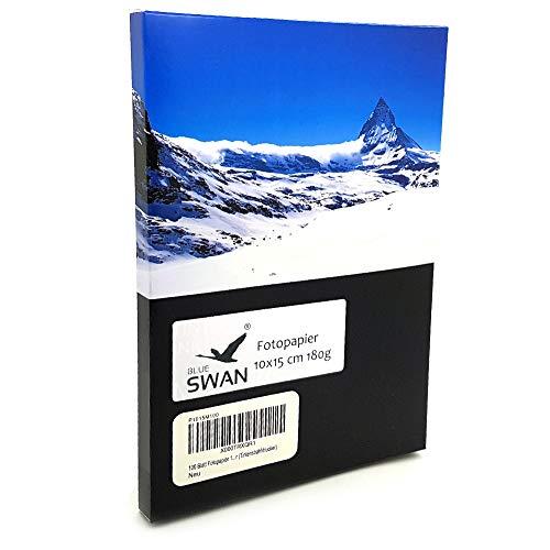 100 Blatt Fotopapier 10x15 cm, 180g/qm, highglossy (hoch-glaenzend) - wasserfest-hochweiß-hohe Farbbrillianz, fuer InkJet Drucker (Tintenstrahldrucker)