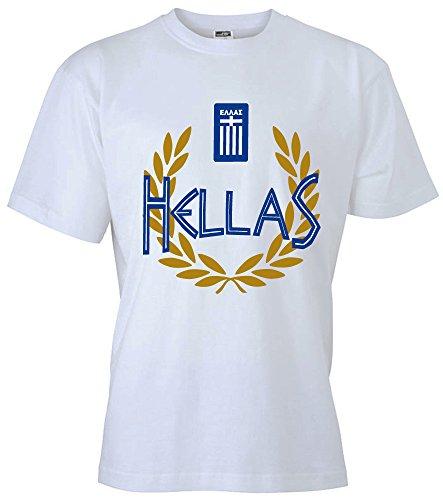 T-Shirt Griechenland Hellas Shirt Greece (S, Weiß)