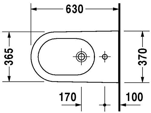 Duravit Starck 2 Stand-Bidet weiß 370 x 630 mm, 2272100000
