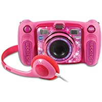 VTech Kidizoom Duo 5.0 -  Cámara de Fotos Digital, Infantil con 5 megapíxeles, Pantalla a Color, 10 Funciones Diferentes, 2 Objetivos, Rosa