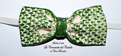 Fliege Keramik Klassischen Linie Linie Italien Piece Unique Hergestellt und von Hand bemalt Le Ceramiche del Castello Made in Italy Maße: 11,5 x 5 cm.