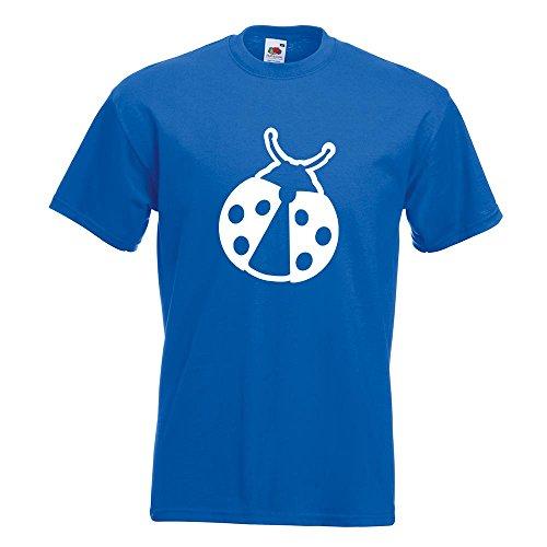 KIWISTAR - Marienkäfer T-Shirt in 15 verschiedenen Farben - Herren Funshirt bedruckt Design Sprüche Spruch Motive Oberteil Baumwolle Print Größe S M L XL XXL Royal