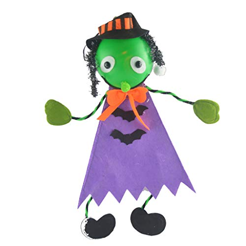 Kind Gargoyle Kostüm - MA87 Gruselig aussehende Ghost Horror weiße Ghost Prop Halloween Dekorationen LED Spielzeug (C)