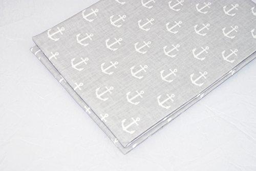 ollstoff bedruckt, 100cm X 160cm, 100% Baumwolle, Anker auf grau (Nähen Muster Leggings)
