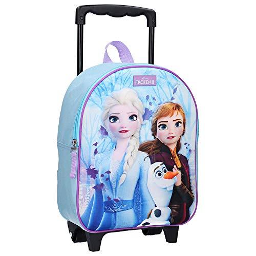 Disney Die Eiskönigin II Trolley 3D Rucksack für Kinder - ELSA, Anna und Olaf - Forest Spirit