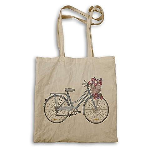 Vintage Bicycle Flower Basket Nouveauté Drôle Sac à main mm58r