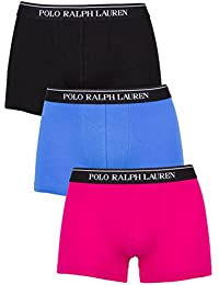 Polo Ralph Lauren Homme 3 pack classique Pouch stretch Logo Trunks, Multicolore, Medium