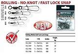 SPRO Rolling Wirbel mit Fast Lock Snap Gr.6 21kg Tragkfraft 10Stk.