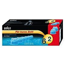 Braun Clean & Renew–Cartucho de limpieza 6+ 2(Pack de 8) (edición limitada)