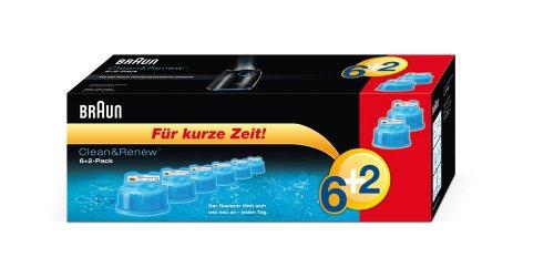 Braun Clean&Renew Reinigungskartusche 6+2 (8er-Pack) (limitierte Edition) -