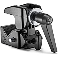 Manfrotto M035VR - VR Super Pinza (hasta 15 kg, Aluminio, fácil de Usar, extensión hasta 55 mm) Negro