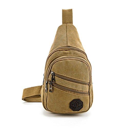 BULAGE Paket Männer Brusttaschen Lässig Im Freien Reise Schulter Mode Sport Rucksäcke Mode Shopping Ausgehen Studenten Khaki
