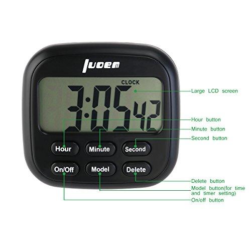 _ luoem Timer da cucina magnetico digitale 24ore Timer da cucina con grande schermo LCD e allarme Timer Forte Anello lista dei prezzi