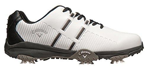 Callaway Chev Mulligan Chaussures de golf pour homme, blanc/noir, 44 (W)