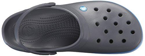 crocs Unisex-Erwachsene Crocband Clogs Charcoal/Ocean