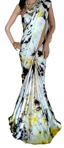 Generic Brocade & Georgette Saree (D.No Dvs 7008_Multi-Coloured)