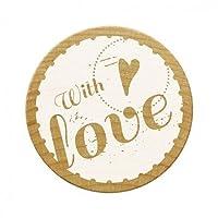 Woodies Stamp with Love 1, Wood, Brown, 30 mm