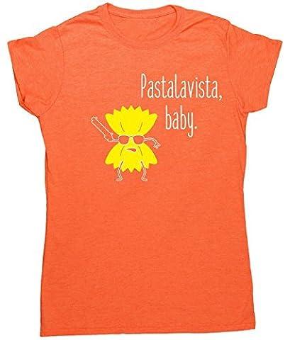 HippoWarehouse Pastalavista, baby womens fitted short sleeve