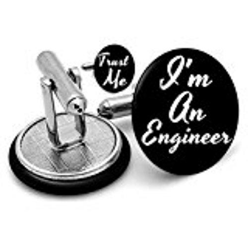 Rushjets Trust Me I'm un ingénieur technicien de boutons de manchette dans étui en velours Gifts ingénierie