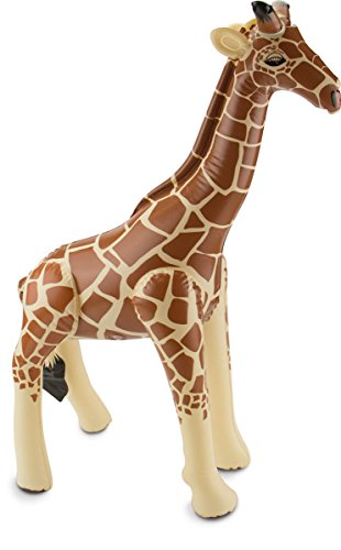 cama24com Aufblasbare Giraffe Safari-Dschungel-Motto-Party-Deko Aufblastier ()