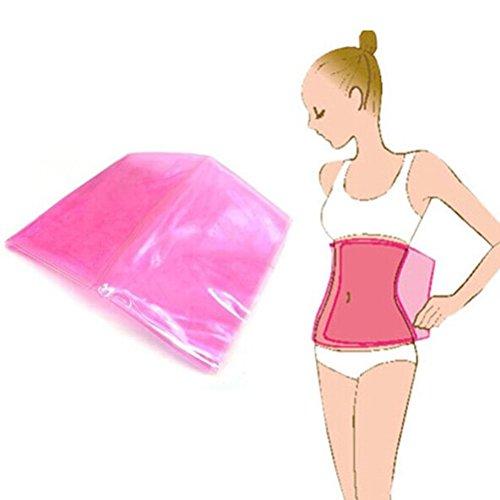 Ab Schlankheits-gürtel (PIXNOR Körper Bauch Shaper Frauen brennen Cellulite Fett Gürtel Super elastische PVC-Taille Slimming Belt Bleigurt Verlust)