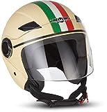 Moto Helmets U52 'Venice Creme' · Jet-Helm · Motorrad-Helm Roller-Helm Scooter-Helm Bobber...