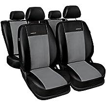 PREMIUM (PR1) (totalmente a medida) - Juego de fundas de asientos a: Audi A4 B7 Sedan Kombi - (2004-2008) (negro-gris)