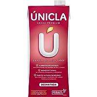 Leche Premium Desnatada Unicla by Feiraco - PACK DE 30 BRICKS - TOTAL 30L DE LECHE - Leche de ganadería sostenible.