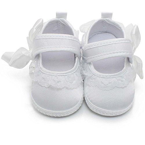 OOSAKU Zapatos bebé Encaje Floral Zapatos Bautismo