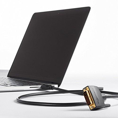 AmazonBasics - Cavo adattatore HDMI su DVI (24+1 Dual Link), standard più recente, 1,82 metri