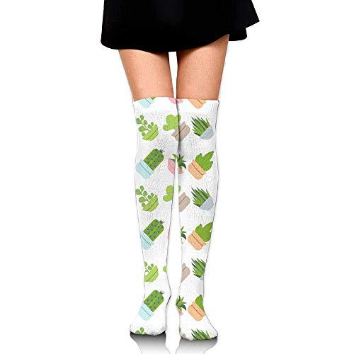 CVDFVFGB Women Beautiful Flower Prints Tube Socks Over The Knee Thigh High Stockings for Girls High Long Soccer (Frankreich Girl Kostüm)