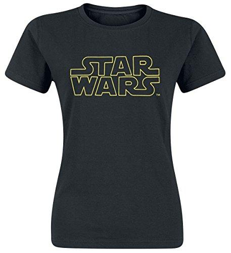 Star Wars Logo Girl-Shirt Schwarz S