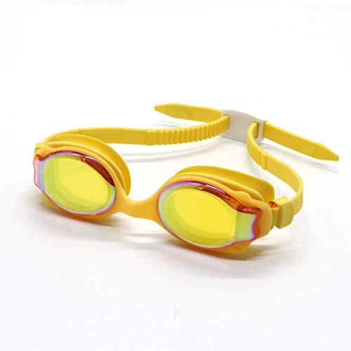 Schwimmbrillen für Männer Frauen Mädchen HD Silikagel Kinder Antibeschlag Silikon gelb 2 Schwimmbrille mit Antibeschlag und UV Schutz - 1067 Ziehen