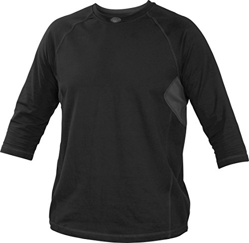 Rawlings Sporting Goods Erwachsene 3/4Sleeve Performance Shirt, Herren, schwarz (3/4 Schwarz Sleeve Shirt)