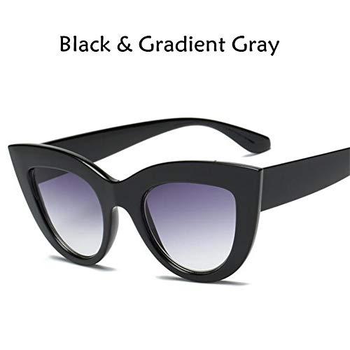 GJYANJING Sonnenbrille Neue Cat Eye Frauen Sonnenbrille Getönte Farbe Objektiv Männer Vintage Geformte Sonnenbrille Weibliche Brillen Blaue Sonnenbrille Marke Designer