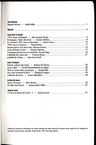Lettre mensuelle N° 102 , Septembre-Octobre 1991 : Jacques Lacan - Sommaire dans l'image - Texte de Jacques Lacan (