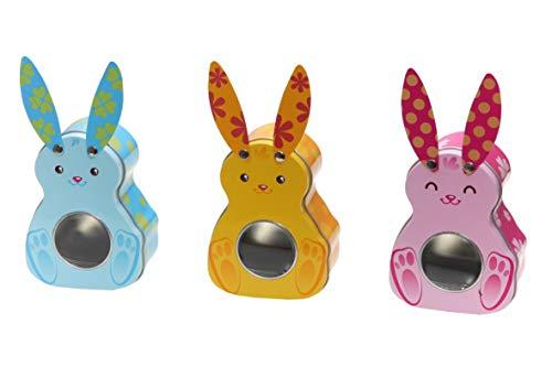 (Kleine Osterhasen, Bunnies, 3 x mini - Blechdose, Aufbewahrungsdosen, Deko Ostern Vol. 200ml)
