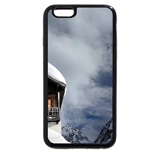 iPhone 6S / iPhone 6 Case (Black) snow covered chalet up high in the mountains