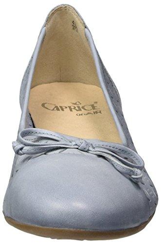 Caprice Damen 22114 Geschlossene Ballerinas Blau (LT BLUE NUBUC)