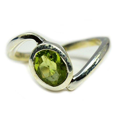 GemsOnClick  -  Sterling-Silber 925  Silber Rund   Green natürlicher Peridot