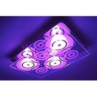Moderne Deckenleuchte mit LED Farbwechsler und Fernbedienung