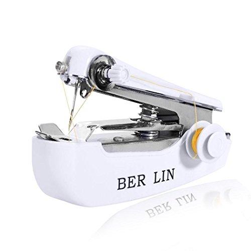 begorey Haushalts Mini tragbare Handkleidung Stoff Nähmaschine Overlock-Nähmaschinen