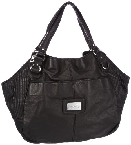 Mexx Fancy Zip 3FRE2137, Damen Shopper 35x30,5x15 cm (B x H x T) Schwarz (BLACK 1)