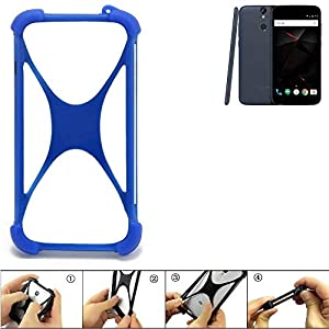 K-S-Trade Bumper für Vernee Thor Silikon Schutz Hülle Handyhülle Silikoncase Softcase Cover Case Stoßschutz, blau (1x)