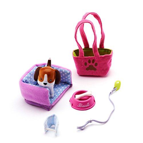 Arklu 49114 Set di accessori, il cagnolino Beagle di bambola Lottie