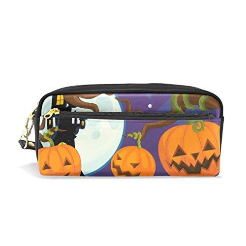 otiv: Design Federmäppchen Große Kapazität Reißverschluss PU Leder Federtasche Schreibwaren Federmappe Kosmetik Make-up Tasche Brieftasche für Mädchen Jungen Erwachsene ()