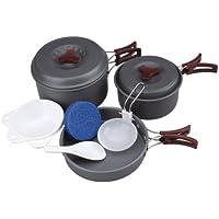 AceCamp de 9piezas Juego de cocina Acampada–Aluminio Anodizado