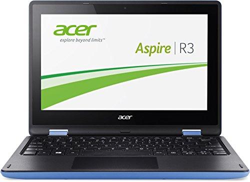 Acer Aspire R11 (R3-131T-C122) 29,4 cm (11,6 Zoll HD) Notebook (Intel Celeron N3050, 2,1GHz, 2GB RAM, 32GB eMMC, Intel HD Graphics, Touchscreen, Win 8.1) blau/schwarz