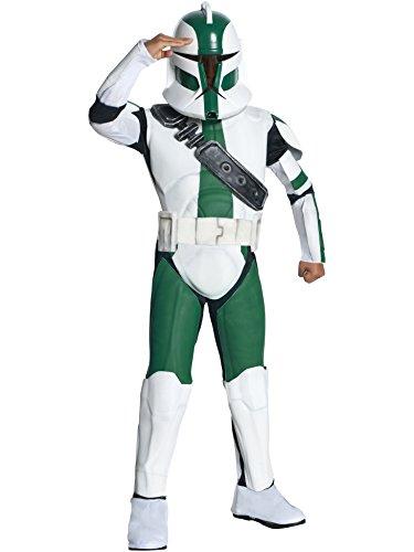 Star Wars Kinder Kostüm Clone Trooper Gree - 128 cm (Clone Trooper Kostüm Jungen)