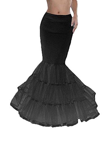 WDH Dress -  Sottoveste  - Donna Black